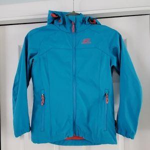 Girl's softshell jacket - Turquoise blue Size 10 Y